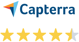4.5 out of 5 Stars review from Capterra