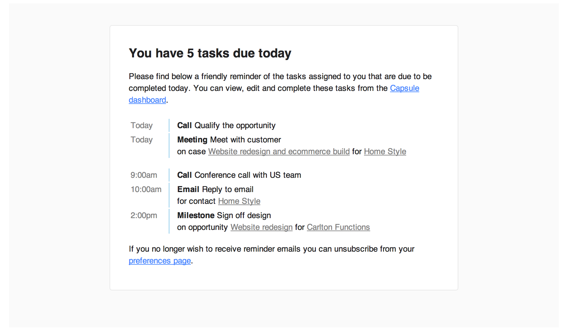 How To Write Reminder Email Example