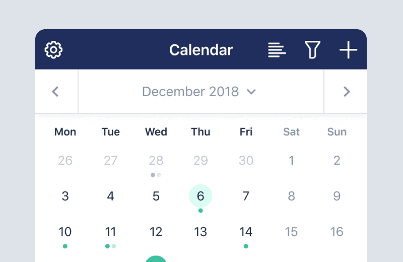 Manage your calendar with Capsule Mobile