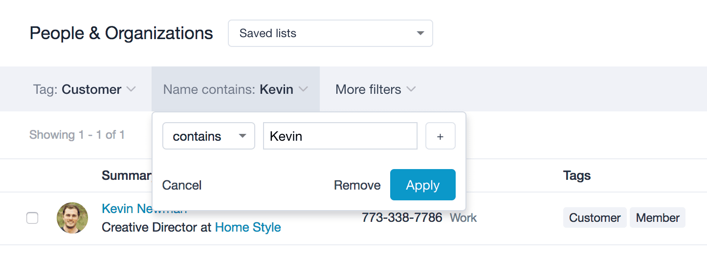 New and improved contact lists | Capsule CRM